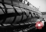 Image of Launching submarine USS Searaven SS-196 Kittery Maine USA, 1939, second 62 stock footage video 65675051086