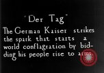 Image of outbreak of World War I Germany, 1914, second 1 stock footage video 65675051119