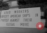 Image of ship picketing United States USA, 1960, second 39 stock footage video 65675051191
