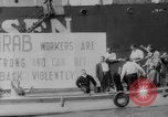 Image of ship picketing United States USA, 1960, second 52 stock footage video 65675051191