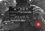 Image of road cleared of land mines using explosive charges Emelie France, 1944, second 1 stock footage video 65675051321