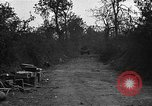 Image of road cleared of land mines using explosive charges Emelie France, 1944, second 11 stock footage video 65675051321