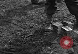 Image of road cleared of land mines using explosive charges Emelie France, 1944, second 38 stock footage video 65675051321