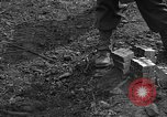 Image of road cleared of land mines using explosive charges Emelie France, 1944, second 41 stock footage video 65675051321