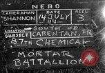 Image of United States 87th Chemical Mortar Battalion Carentan France, 1944, second 1 stock footage video 65675051323
