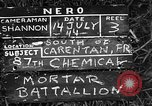 Image of United States 87th Chemical Mortar Battalion Carentan France, 1944, second 2 stock footage video 65675051323