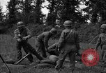 Image of United States 87th Chemical Mortar Battalion Carentan France, 1944, second 30 stock footage video 65675051326