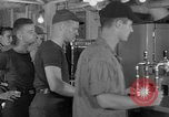 Image of United States Navy sailors enjoy ice cream Pacific Ocean, 1954, second 10 stock footage video 65675051350