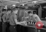 Image of United States Navy sailors enjoy ice cream Pacific Ocean, 1954, second 55 stock footage video 65675051350
