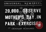 Image of Mother's Day New York United States USA, 1936, second 1 stock footage video 65675051379