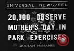 Image of Mother's Day New York United States USA, 1936, second 5 stock footage video 65675051379