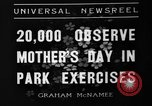 Image of Mother's Day New York United States USA, 1936, second 6 stock footage video 65675051379