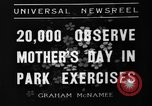 Image of Mother's Day New York United States USA, 1936, second 8 stock footage video 65675051379
