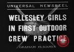 Image of shell boat crew Wellesley Massachusetts USA, 1936, second 3 stock footage video 65675051380