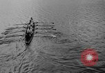 Image of shell boat crew Wellesley Massachusetts USA, 1936, second 20 stock footage video 65675051380