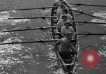 Image of shell boat crew Wellesley Massachusetts USA, 1936, second 25 stock footage video 65675051380