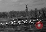 Image of shell boat crew Wellesley Massachusetts USA, 1936, second 38 stock footage video 65675051380