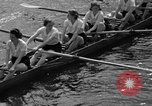 Image of shell boat crew Wellesley Massachusetts USA, 1936, second 41 stock footage video 65675051380