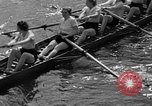 Image of shell boat crew Wellesley Massachusetts USA, 1936, second 42 stock footage video 65675051380
