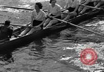 Image of shell boat crew Wellesley Massachusetts USA, 1936, second 43 stock footage video 65675051380