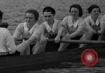 Image of shell boat crew Wellesley Massachusetts USA, 1936, second 54 stock footage video 65675051380