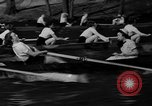 Image of shell boat crew Wellesley Massachusetts USA, 1936, second 57 stock footage video 65675051380