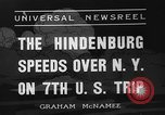 Image of Hindenburg airship New York United States USA, 1936, second 1 stock footage video 65675051386