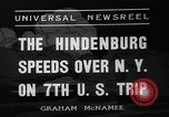 Image of Hindenburg airship New York United States USA, 1936, second 2 stock footage video 65675051386