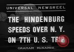 Image of Hindenburg airship New York United States USA, 1936, second 3 stock footage video 65675051386