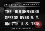 Image of Hindenburg airship New York United States USA, 1936, second 4 stock footage video 65675051386