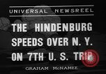 Image of Hindenburg airship New York United States USA, 1936, second 8 stock footage video 65675051386