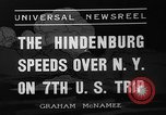Image of Hindenburg airship New York United States USA, 1936, second 9 stock footage video 65675051386