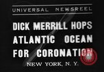 Image of Dick Merrill New York United States USA, 1937, second 1 stock footage video 65675051403