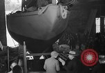 Image of Launching of the J-Class yacht, Ranger Bath Maine USA, 1937, second 31 stock footage video 65675051412