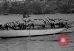 Image of Launching of the J-Class yacht, Ranger Bath Maine USA, 1937, second 42 stock footage video 65675051412
