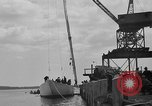 Image of Launching of the J-Class yacht, Ranger Bath Maine USA, 1937, second 44 stock footage video 65675051412