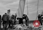 Image of Launching of the J-Class yacht, Ranger Bath Maine USA, 1937, second 47 stock footage video 65675051412