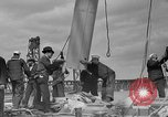 Image of Launching of the J-Class yacht, Ranger Bath Maine USA, 1937, second 49 stock footage video 65675051412