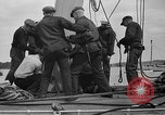 Image of Launching of the J-Class yacht, Ranger Bath Maine USA, 1937, second 52 stock footage video 65675051412