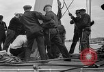 Image of Launching of the J-Class yacht, Ranger Bath Maine USA, 1937, second 54 stock footage video 65675051412
