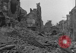 Image of damaged buildings Cherbourg Normandy France, 1944, second 6 stock footage video 65675051434