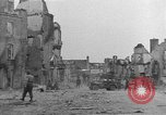 Image of damaged buildings Cherbourg Normandy France, 1944, second 33 stock footage video 65675051434