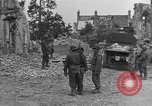 Image of damaged buildings Cherbourg Normandy France, 1944, second 36 stock footage video 65675051434