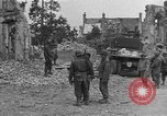 Image of damaged buildings Cherbourg Normandy France, 1944, second 37 stock footage video 65675051434
