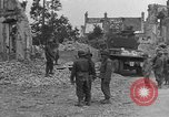 Image of damaged buildings Cherbourg Normandy France, 1944, second 38 stock footage video 65675051434