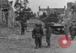 Image of damaged buildings Cherbourg Normandy France, 1944, second 39 stock footage video 65675051434
