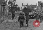 Image of damaged buildings Cherbourg Normandy France, 1944, second 41 stock footage video 65675051434