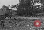 Image of damaged buildings Cherbourg Normandy France, 1944, second 59 stock footage video 65675051434