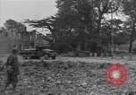 Image of damaged buildings Cherbourg Normandy France, 1944, second 62 stock footage video 65675051434