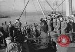Image of American troop ships arriving in English waters after crossing the Atlantic United Kingdom, 1944, second 8 stock footage video 65675051448